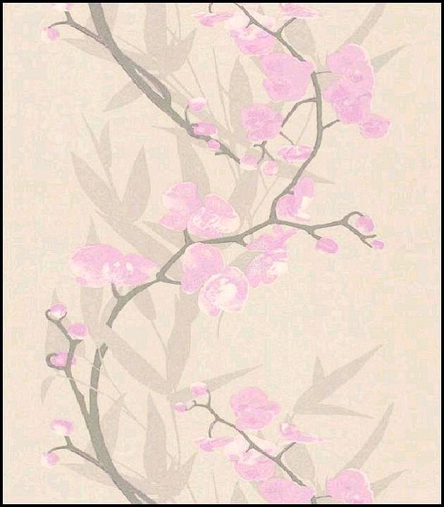 Papiers peints de la maison vinyle orchidee mauve 51135013 for La maison du papier peint